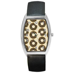 Donuts Tonneau Leather Watch by Kathrinlegg