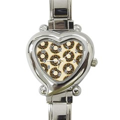Donuts Heart Italian Charm Watch  by Kathrinlegg