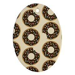Donuts Oval Ornament (two Sides) by Kathrinlegg