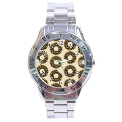 Donuts Stainless Steel Watch by Kathrinlegg