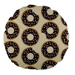 Donuts Large 18  Premium Round Cushion  by Kathrinlegg