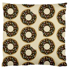 Donuts Large Flano Cushion Case (one Side)