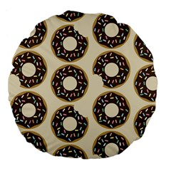 Donuts Large 18  Premium Flano Round Cushion  by Kathrinlegg