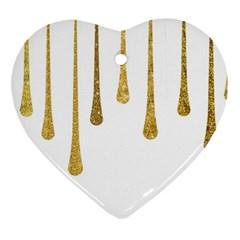 Gold Glitter Paint Heart Ornament by Kathrinlegg