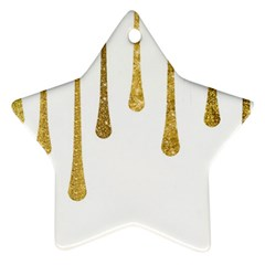 Gold Glitter Paint Star Ornament (two Sides) by Kathrinlegg