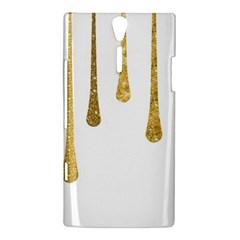 Gold Glitter Paint Sony Xperia S Hardshell Case  by Kathrinlegg