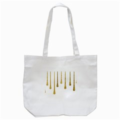 Gold Glitter Paint Tote Bag (white) by Kathrinlegg