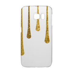Gold Glitter Paint Samsung Galaxy S6 Edge Hardshell Case by Kathrinlegg