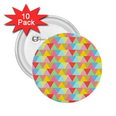 Triangle Pattern 2 25  Button (10 Pack) by Kathrinlegg