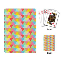 Triangle Pattern Playing Cards Single Design by Kathrinlegg