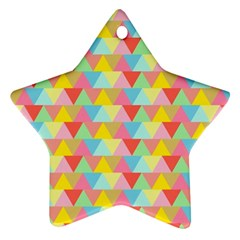 Triangle Pattern Star Ornament (two Sides) by Kathrinlegg