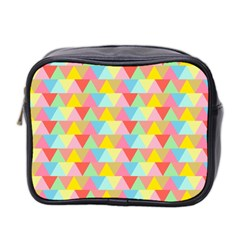 Triangle Pattern Mini Travel Toiletry Bag (two Sides) by Kathrinlegg
