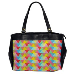 Triangle Pattern Oversize Office Handbag (one Side) by Kathrinlegg