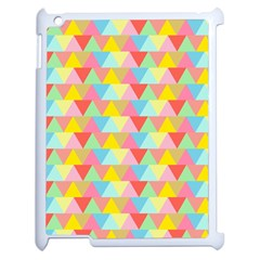 Triangle Pattern Apple Ipad 2 Case (white) by Kathrinlegg