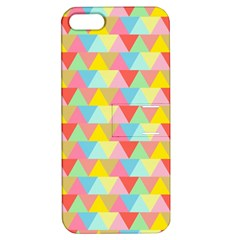 Triangle Pattern Apple Iphone 5 Hardshell Case With Stand by Kathrinlegg