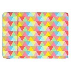 Triangle Pattern Samsung Galaxy Tab 8 9  P7300 Flip Case by Kathrinlegg