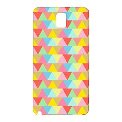 Triangle Pattern Samsung Galaxy Note 3 N9005 Hardshell Back Case by Kathrinlegg