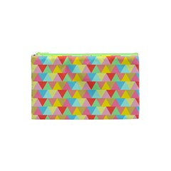 Triangle Pattern Cosmetic Bag (xs) by Kathrinlegg