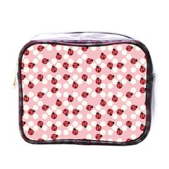 Spot The Ladybug Mini Travel Toiletry Bag (one Side) by Kathrinlegg