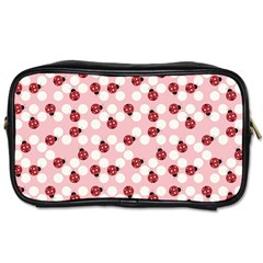 Spot The Ladybug Travel Toiletry Bag (two Sides) by Kathrinlegg