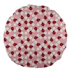 Spot The Ladybug Large 18  Premium Round Cushion  by Kathrinlegg