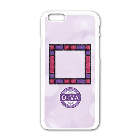 Iphone6 Diva Cover By Alicia Joy   Apple Iphone 6/6s White Enamel Case   N3kjjplbfrtq   Www Artscow Com Front