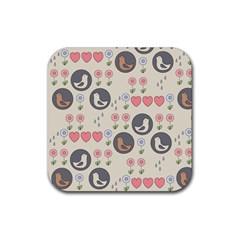Love Birds Drink Coaster (square) by Kathrinlegg