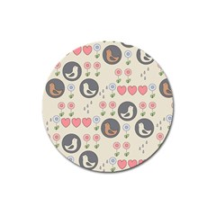 Love Birds Magnet 3  (round) by Kathrinlegg