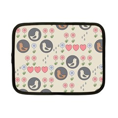 Love Birds Netbook Sleeve (small) by Kathrinlegg