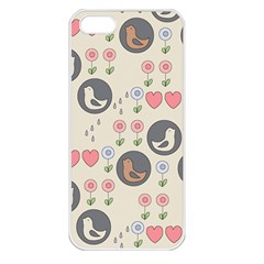 Love Birds Apple Iphone 5 Seamless Case (white) by Kathrinlegg