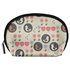 Love Birds Accessory Pouch (large) by Kathrinlegg