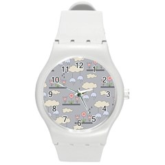 Garden in the Sky Plastic Sport Watch (Medium) by Kathrinlegg
