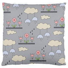 Garden In The Sky Large Cushion Case (two Sided)  by Kathrinlegg