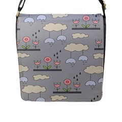 Garden In The Sky Flap Closure Messenger Bag (large) by Kathrinlegg