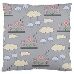 Garden In The Sky Large Flano Cushion Case (two Sides) by Kathrinlegg