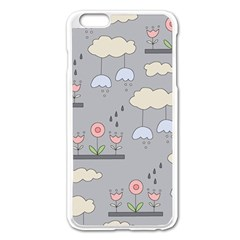 Garden In The Sky Apple Iphone 6 Plus Enamel White Case by Kathrinlegg