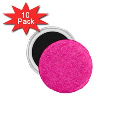Abstract Stars In Hot Pink 1 75  Button Magnet (10 Pack) by StuffOrSomething
