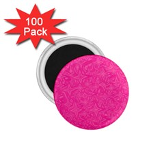 Abstract Stars In Hot Pink 1 75  Button Magnet (100 Pack) by StuffOrSomething