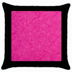 Abstract Stars In Hot Pink Black Throw Pillow Case by StuffOrSomething