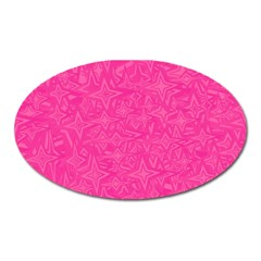 Abstract Stars In Hot Pink Magnet (oval) by StuffOrSomething