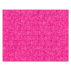 Abstract Stars In Hot Pink Jigsaw Puzzle (rectangle) by StuffOrSomething