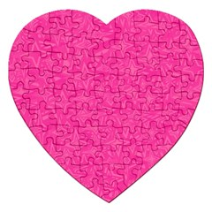 Abstract Stars In Hot Pink Jigsaw Puzzle (heart) by StuffOrSomething