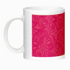 Abstract Stars In Hot Pink Glow In The Dark Mug by StuffOrSomething