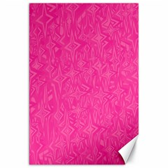 Abstract Stars In Hot Pink Canvas 20  X 30  (unframed) by StuffOrSomething