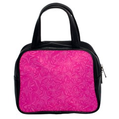 Abstract Stars In Hot Pink Classic Handbag (two Sides) by StuffOrSomething