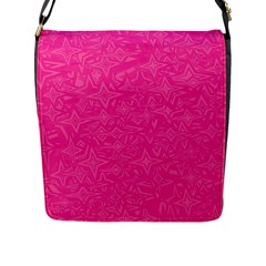 Abstract Stars In Hot Pink Flap Closure Messenger Bag (large) by StuffOrSomething