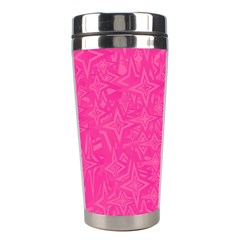 Abstract Stars In Hot Pink Stainless Steel Travel Tumbler by StuffOrSomething