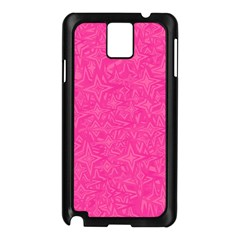 Abstract Stars In Hot Pink Samsung Galaxy Note 3 N9005 Case (black) by StuffOrSomething