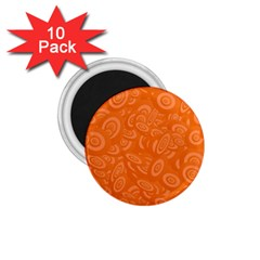 Orange Abstract 45s 1 75  Button Magnet (10 Pack) by StuffOrSomething