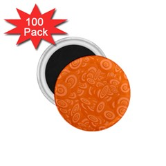 Orange Abstract 45s 1 75  Button Magnet (100 Pack) by StuffOrSomething